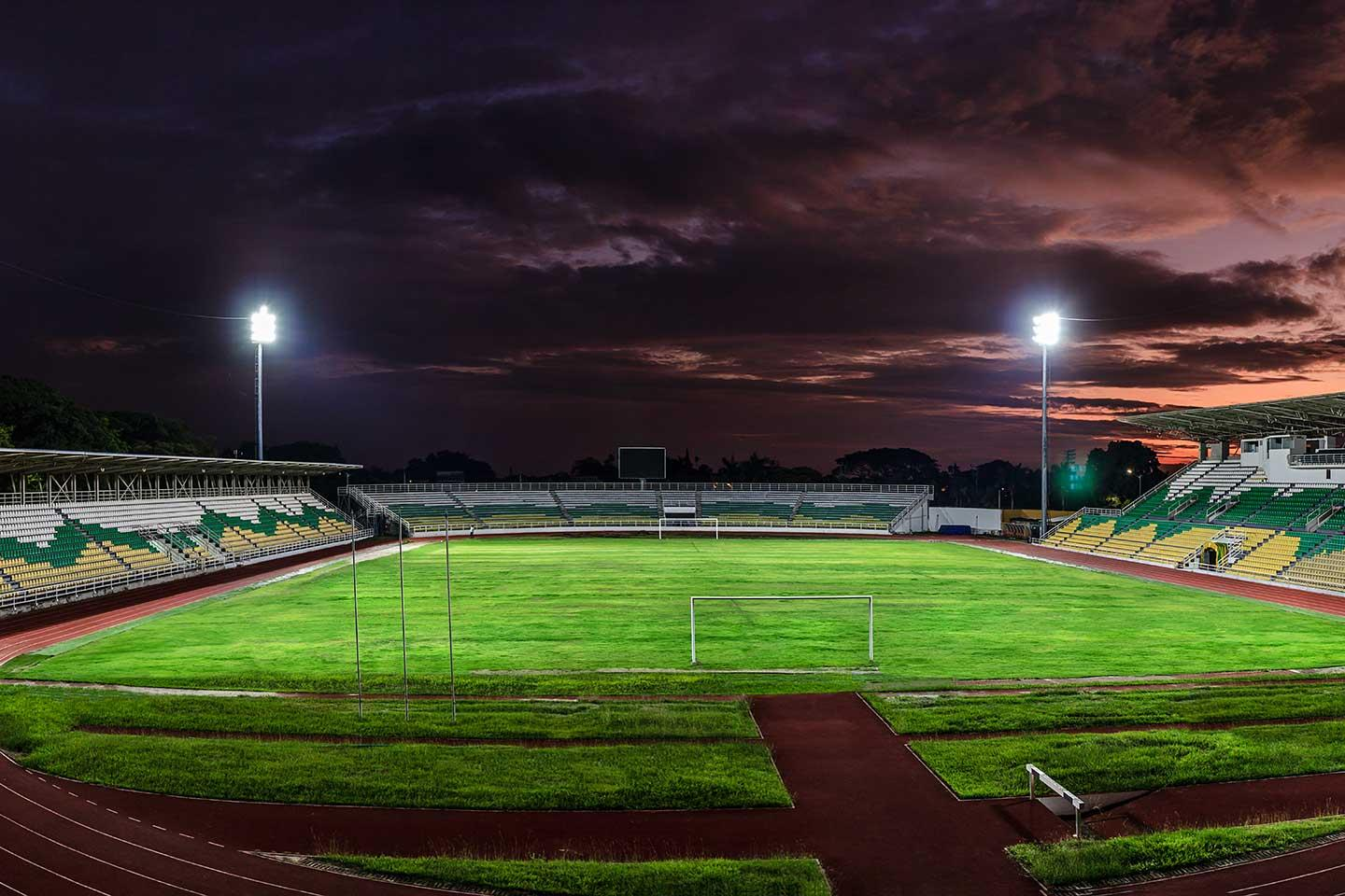 Energy efficient sports lighting solution improves quality of light at Francisco Rivera Escobar Stadium while reducing costs