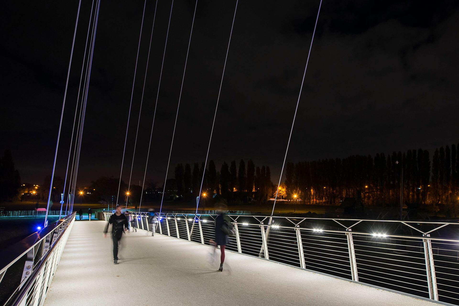Led Handrail Provides Safe Passage Over Christchurch