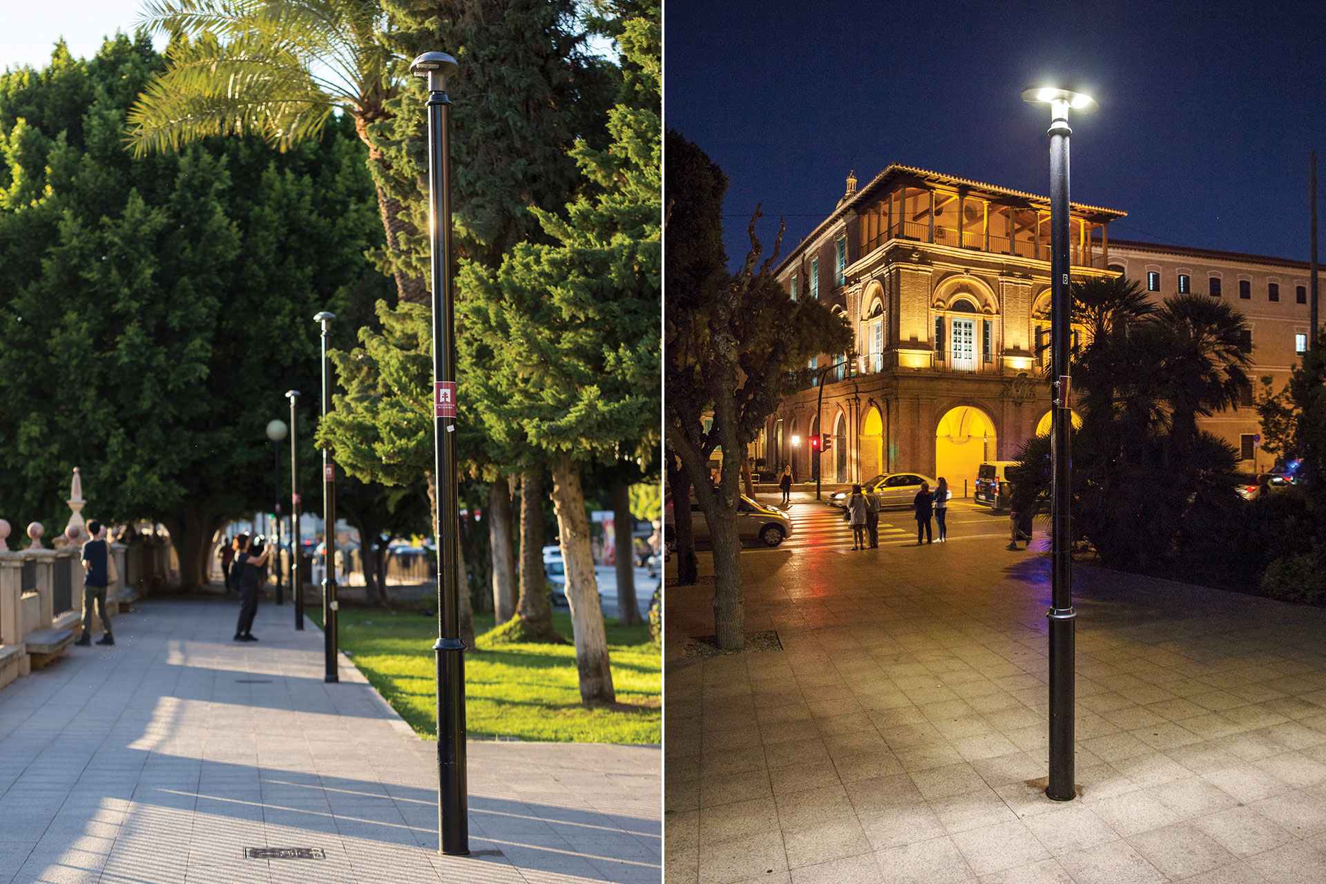 The cost-effective Voldue has improved the nocturnal vibe of Paseo del Teniente Flomesta in Murcia