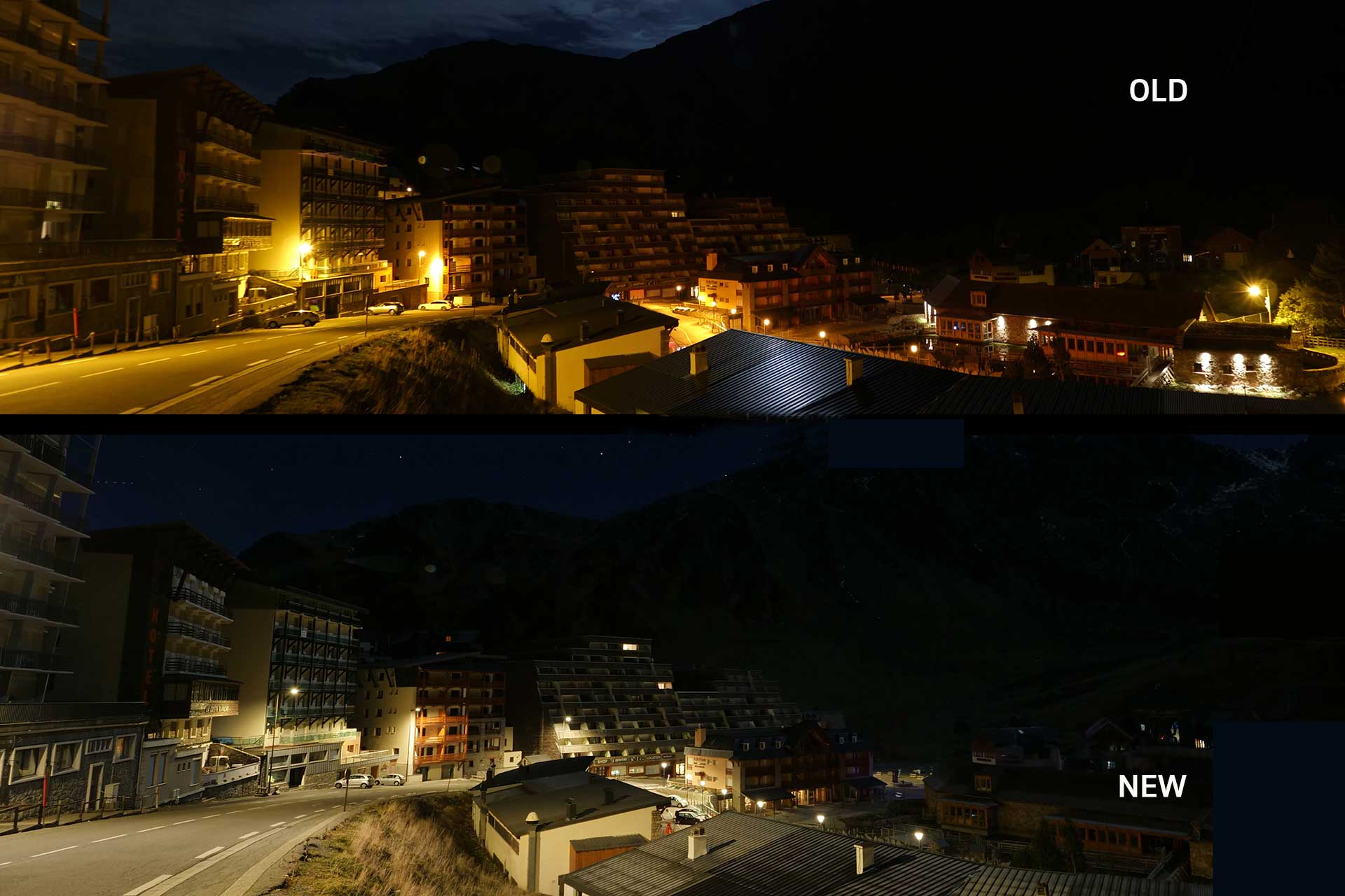 Schréder's smart lighting solution has improved visibility, reduced light pollution and cut energy consumption by 40% for La Mongie